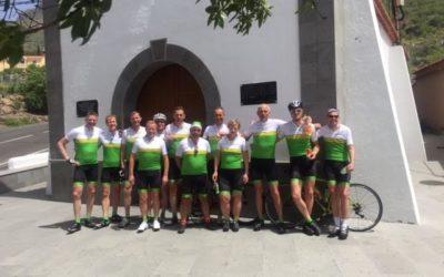 Peloton leiders fietst op Gran Canaria